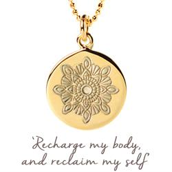 Mantra Julie Montagu Recharge Necklace in Gold on card