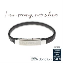 Black, Strength, CALM Charity Bracelet by Mantra