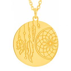 Dreamcatcher Necklace Gold Plated