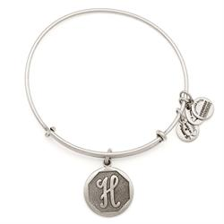 H Initial Bangle in Rafaelian Silver