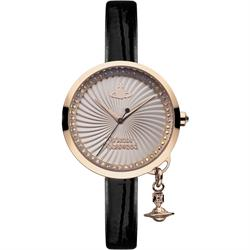 Vivienne Westwood Black Patent Bow Leather Watch
