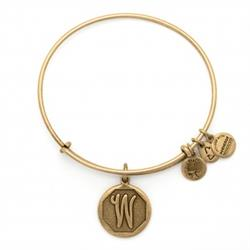 W Initial Bangle in Rafaelian Gold