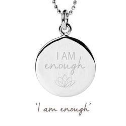 Mantra I Am Enough Necklace in Silver