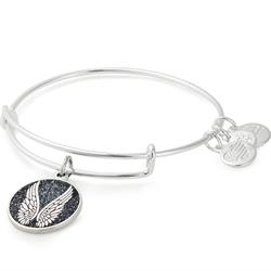 Alex and Ani Shiny Silver Angel Wings Bangle