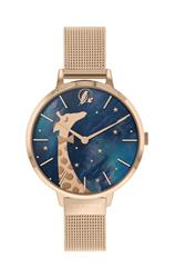Giraffe Mesh Watch Rose Gold