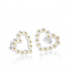 14mm Iota Heart Studs