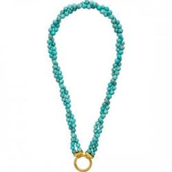 Turquoise Double Strand Necklace 48cm