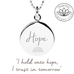 mantra rainbow of hope necklace silver