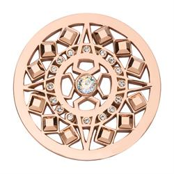 Rose Gold Swarovski Shooting Star coin 33mm