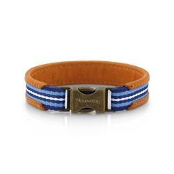 Nomination Cruise Leather Bracelet in Blue, Brown & White