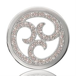 Silver Sparkling Curls Coin 33mm