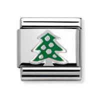 Buy Nomination Silvershine Green Christmas Tree