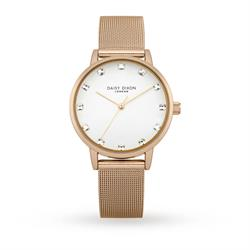 Rose Gold CZ Mesh Olivia Watch