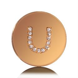 Letter U Small Gold Coin