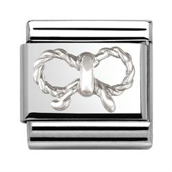 Raised Silver Bow
