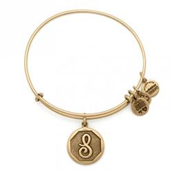S Initial Bangle in Rafaelian Gold