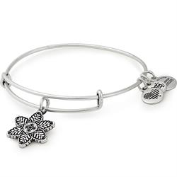 Rafaelian Silver Snow Star Bangle