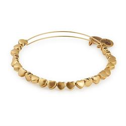 Heart Beaded Bangle in Rafaelian Gold