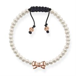 Fresh Water Pearl & Rose Gold Bow Love Knot Bracelet