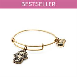 Hand of Fatima Disc bangle in Rafaelian Gold Finish
