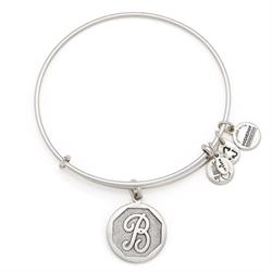 B Initial Bangle in Rafaelian Silver