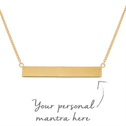 Bar myMantra Necklace in Gold