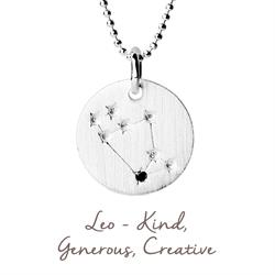 Leo Star Map in Silver