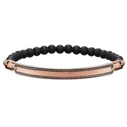Rose Gold Skull Love Bridge Bracelet 18cm