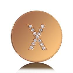 Nikki Lissoni Outlet Letter X Small Gold Coin