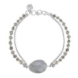 Sterling Silver Faceted Bead and Labradorite Orissa Bracelet