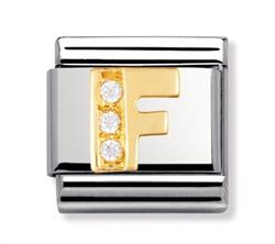 Buy Nomination Gold & CZ Letter F