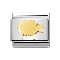 Gold Sheep Charm