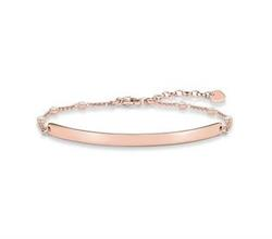 Rose Gold CZ Engravable Bracelet 18cm