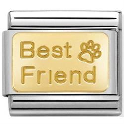 Best Friend Paw Print Charm by Nomination
