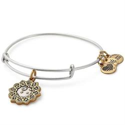 Libra Two Tone Zodiac Bangle