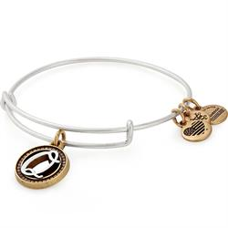 Buy Alex and Ani Q Initial Two-Tone Bangle