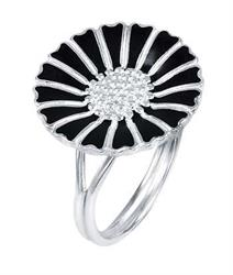 Buy Lund Large Silver Daisy Ring Size 56