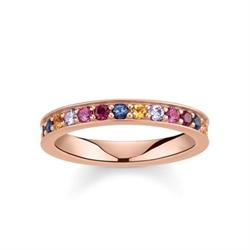 Royalty Rose Gold & Multi CZ Ring Size 54
