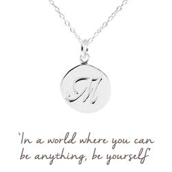 M Mantra Initial Necklace