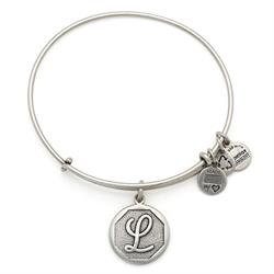 L Initial Bangle in Rafaelian Silver