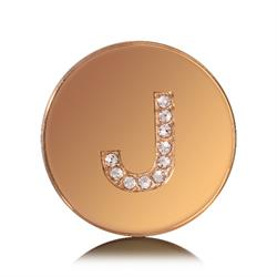 Letter J Small Gold Coin