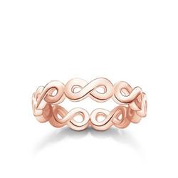 Rose Gold Repeat Infinity Ring 52