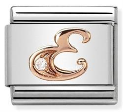 Buy Nomination Rose Gold CZ Letter E