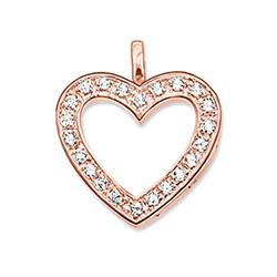 Thomas Sabo Rose Gold Open CZ Heart Charm Sale