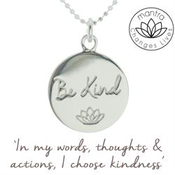 Be Kind Bullying UK Charity Necklace in Silver