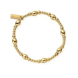 Gold Oval Disc Bracelet