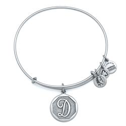 D Initial Bangle in Rafaelian Silver