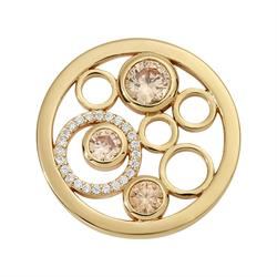 Gold Modern Crystal Coin 23mm