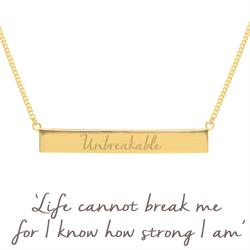 Holly Matthews Unbreakable Bar Necklace in Gold