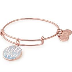 Alex and Ani Wild And Free Colour Infusion Bangle in Shiny Rose Gold